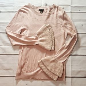 Halogen Dusty Rose Bell Sleeve Sweater